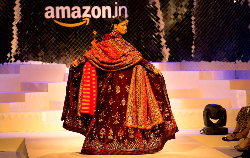 Amazon Indian fashion week runway