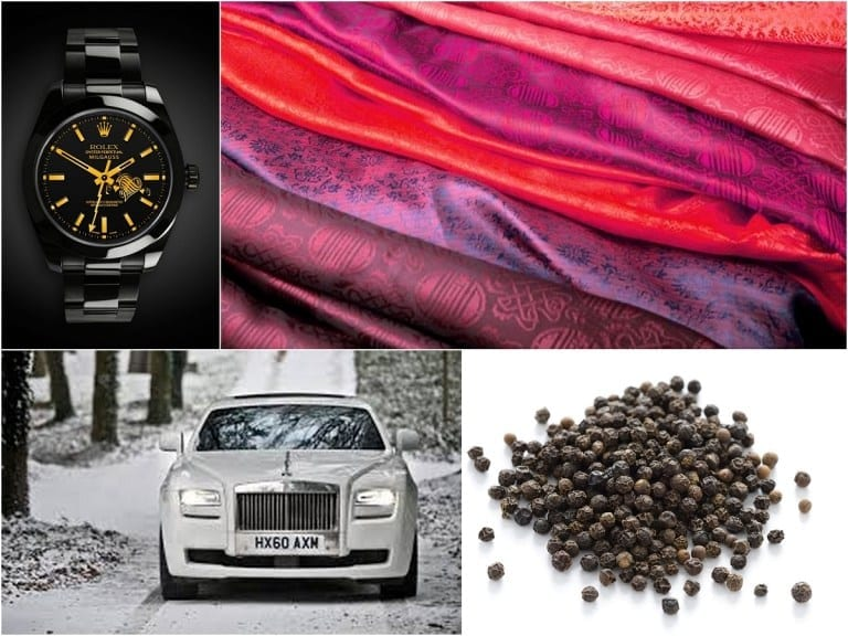 luxury items collage