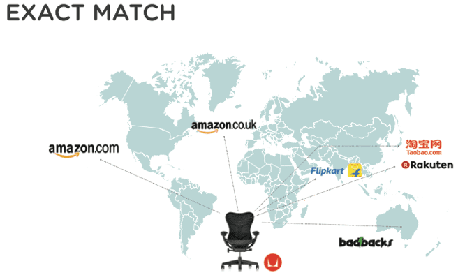 World map comparing herman miller chair