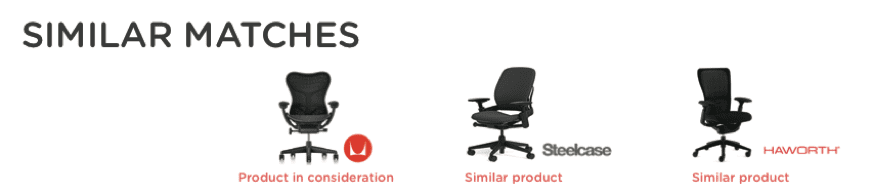 similar matches herman miller chair across competitors