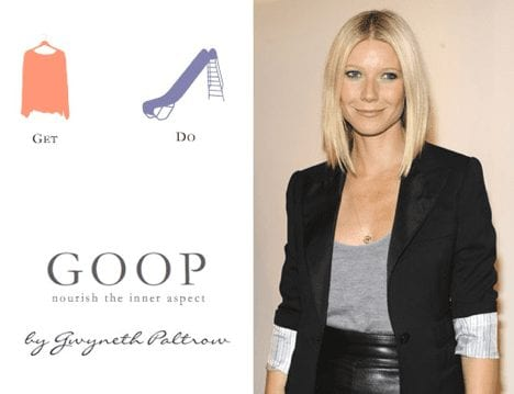 Gwyneth Paltrow's lifestyle brand Goop