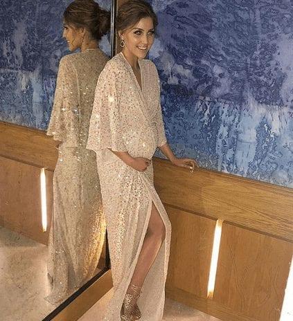 Tara O'Farrell in dress from ASOS Maternity