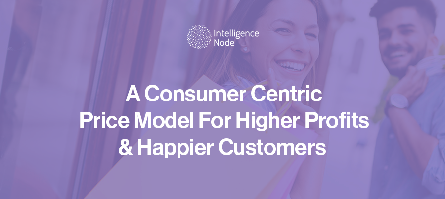 A banner with consumer centric pricing model text