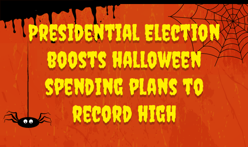 Presidential Election Boosts Halloween Spending Plans to Record High